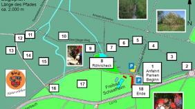 Karte Biosphärenpfad