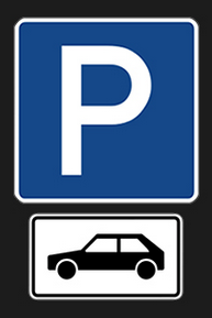 Parkerlaubnis für PKW - Zeichen 314.PNG