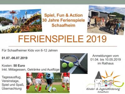 Ferienspiele 2019